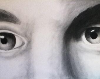 Charcoal Eye Portrait