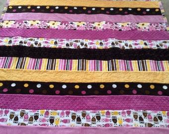 Minkee lap quilt