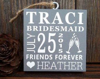 Personalized Bridesmaids Ornaments