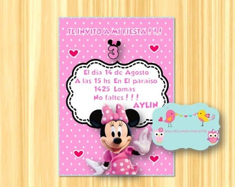 Minnie Mouse pink personalized invitation !!!