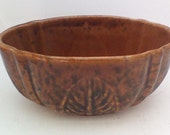 Brown and Black Oval Ceramic Haeger Planter