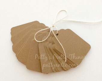 Kraft Gift Tags, Country Wedding Tags, Price Tags, Hang Tags, Birthday Tags, Party Tags, Gift Tags, Birthday Party Tags