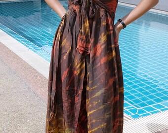 TIE DYE Dress - Gypsy-Boho-Brown