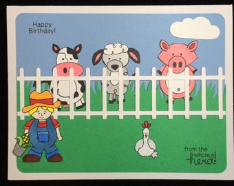 Happy Birthday From The Whole Herd Greeting Card