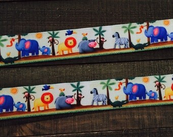 Jungle Ribbon, Elephant Ribbon, Lion Ribbon, Zebra Ribbon, Baby Animal Ribbon, Monkey Ribbon