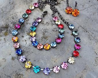 Multicolred Swarovski necklace