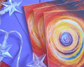 Galaxy 3 card abstract art greeting pack