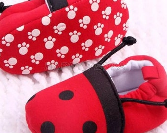 Lady bug shoes 3-6 months