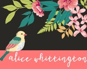 Beautiful Floral Bird Cads with Envelopes - Set of 10
