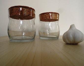 Glass Storage Pots with Cork Lid