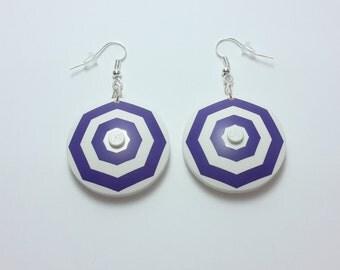 Geometric Lego earrings