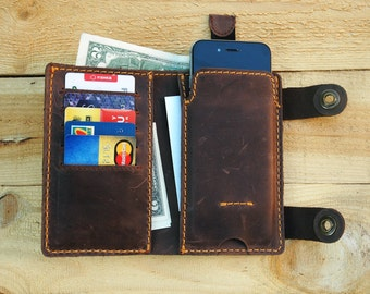 Personalized leather phone wallet iphone 6 phone case phone wallet case custom phone wallet leather phone wallet