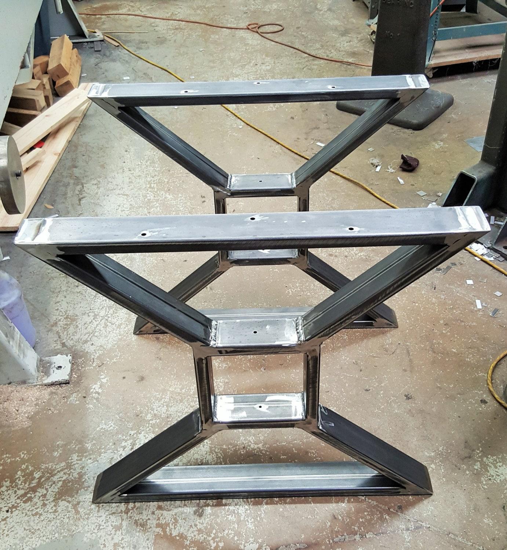Modern Dining Table X Legs Model TTSOLD Heavy Duty By DVAMetal
