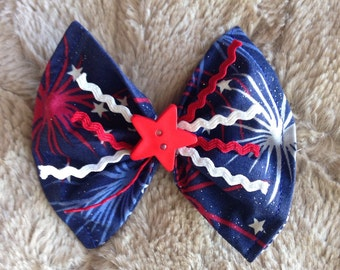 4th of july hair clip.
