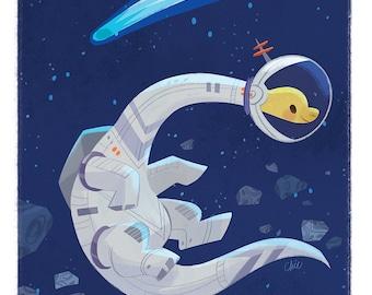 Space Bronto - Art Print