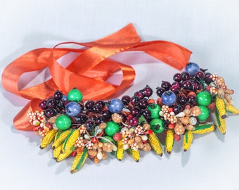 Berry necklace, Fruit necklace, Chunky necklace, Statement necklace, Quirky necklace, Fruit jewelry, UK sellers only, Bridal necklace