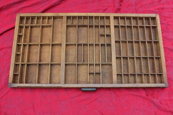 RESERVED FOR DELLA -Vintage Letter Press Thompson Printers Tray - Wood