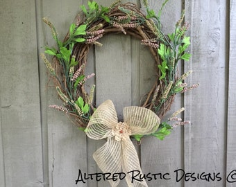 All occasion wreath/ home decor/ wall decor/ front door wreath/ grapevine wreath/ wall hanging/ wreath/
