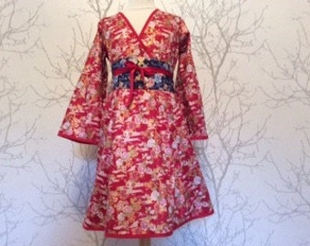 Made to order: Girl's dress in japanese cotton.