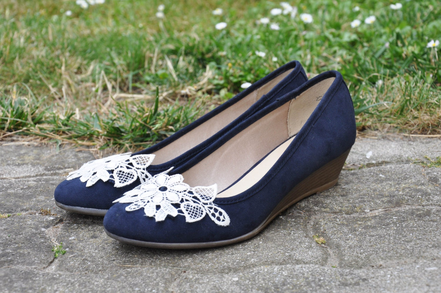 wedding wedges royal blue wedding wedge shoes royal by