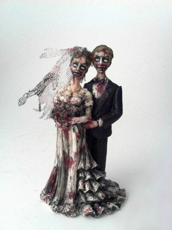 Figurine gateau mariage squelette