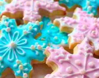 Snowflake Decorated Sugar Cookies