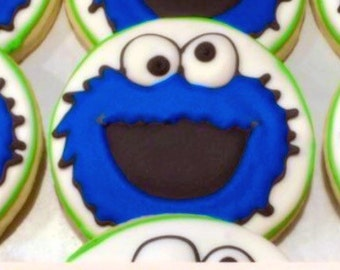 Cookie Monster Decorated Sugar Cookies