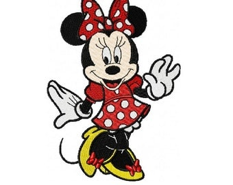 Minnie Mouse Embroidery Design in Two Sizes - INSTANT DOWNLOAD