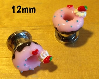 10mm-12mm donut ear plugs for stretched ears *cute kawaii*