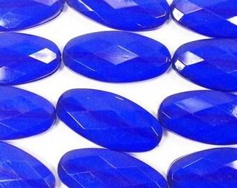 Extra Large slab nugget beads - acrylic royal blue chunky jewels