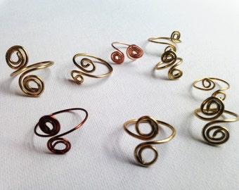 Double Spiral wire rings, SPIRAL wire RINGS