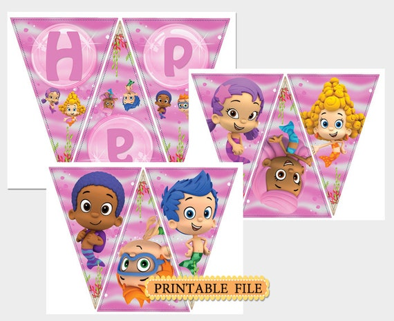 Bubble guppies birthday banner printable hot girls wallpaper - Bubble guppies birthday banner template ...