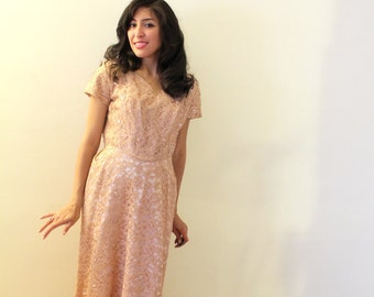 1950s Blush Pink Party Dress
