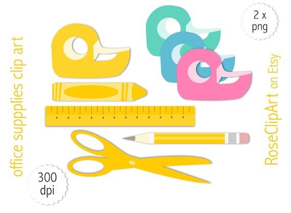 Büromaterial clipart  Ähnliche Artikel wie Büromaterial Clipart - Instant Download ...