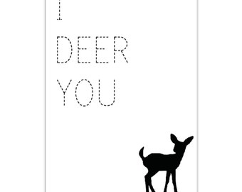 Card Deer Quote