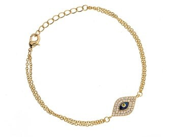 Blue evil eye Bracelet. Kabbalha jewelry, symbol jewelry, bracelet evil eye, gold evil eye Bracelet