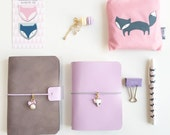 Pastel Lilac Pelle Leather Journal/ Travelers Notebook
