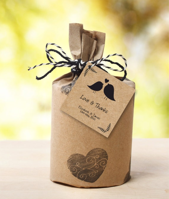 Favor Tags Template, Editable Text, Casual Birdie Wedding Favor Tags ...