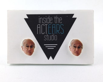 Larry David Curb Your Enthusiasm Homemade Earring Set