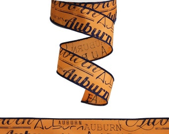 """1.5 """" Wired Auburn Ribbon - (10 Yards) - RG1036"""