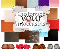 Customize Your Moccasins Fringe - Bow - Tassel - Open (Sandals)