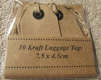 Kraft Gift Tags with Jute.