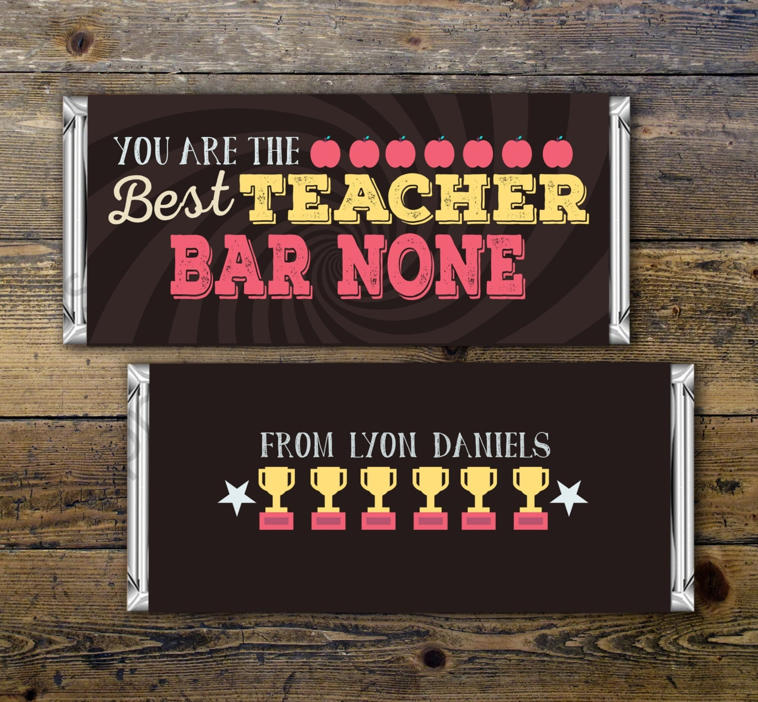 chocolate bar wrappers