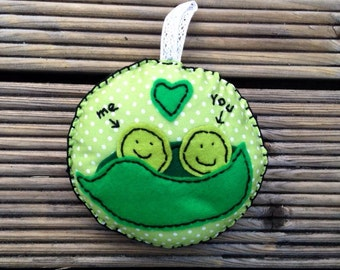 Two peas in a pod cushion gift