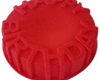 Birthday Cake Mold Birthday Mold Silicone Baking Mold Mousse Mould Soap Mold