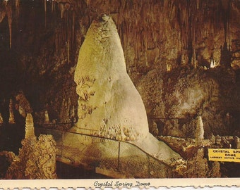 Crystal Spring Dome, Carlsbad Caverns National Park, New Mexico, Vintage Postcard, Tourist Attraction, Travel Souvenir, Picture Postcard