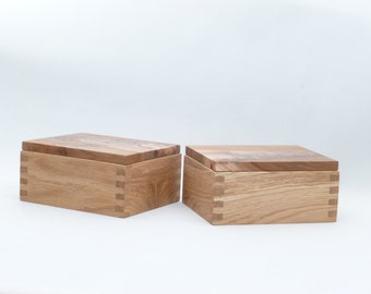 Oak and Wyche Elm trinket box, jewellery box, keepsake