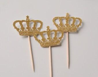 Royal Princess cupcake topper, Crown topper
