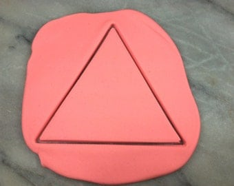Triangle Outline Cookie Cutter - SHARP EDGES - FAST Shipping - Choose Your Own Size!