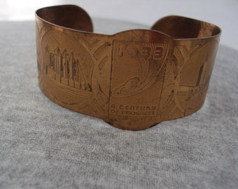 1933 World's Fair Commemrative Bracelet - Cuff